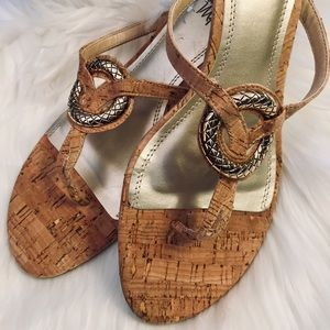 Shoes - NWOT Espadrille Wedges with gold detailing. SZ 10